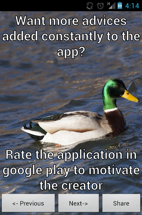 Actual Advice Mallard- screenshot