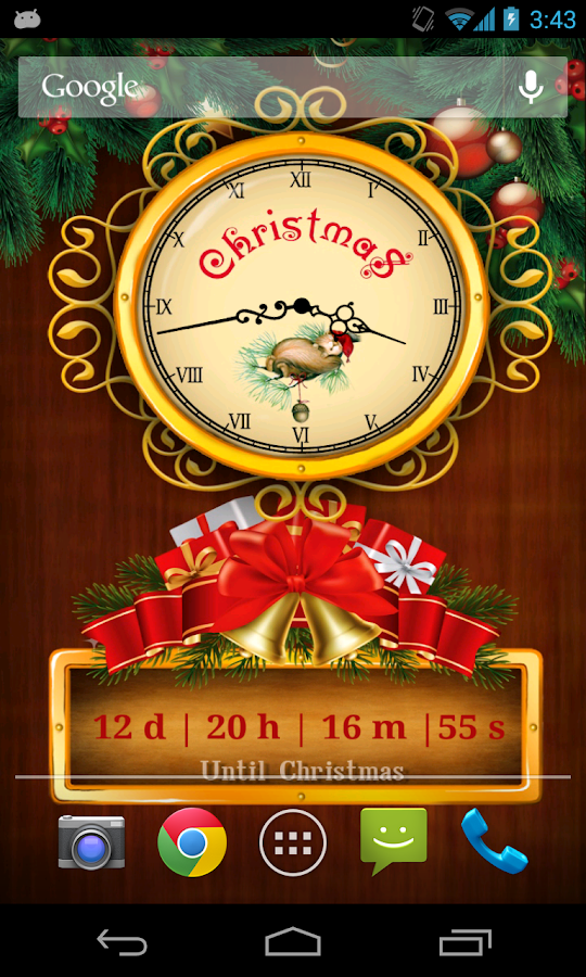 christmas countdown wallpaper android apps on google play