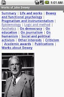 Screenshot of Works of John Dewey