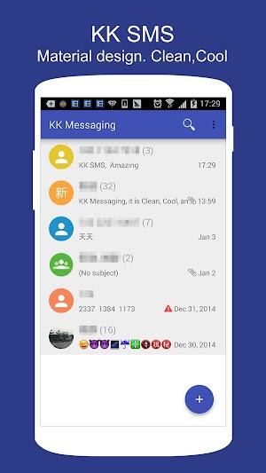0 SMS KK (SMS/MMS, Lollipop SMS) App screenshot
