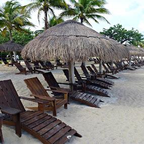 Cozumel Chairs by Deborah Russenberger - Landscapes Beaches ( sand, beach, , Chair, Chairs, Sitting )