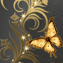 Great Butterfly Gold Live Wall icon