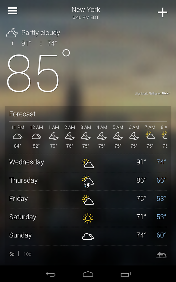 Yahoo Weather- screenshot