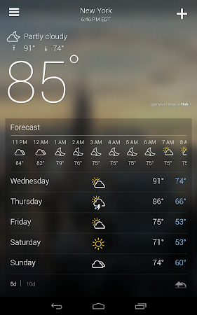Yahoo Weather 1.3.9 screenshot 2122