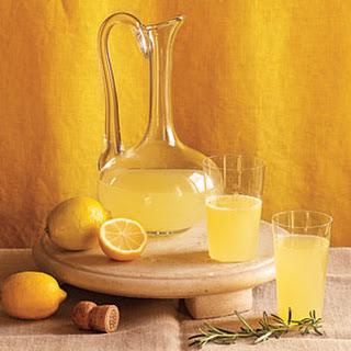 Sparkling Meyer Lemon Cocktail.