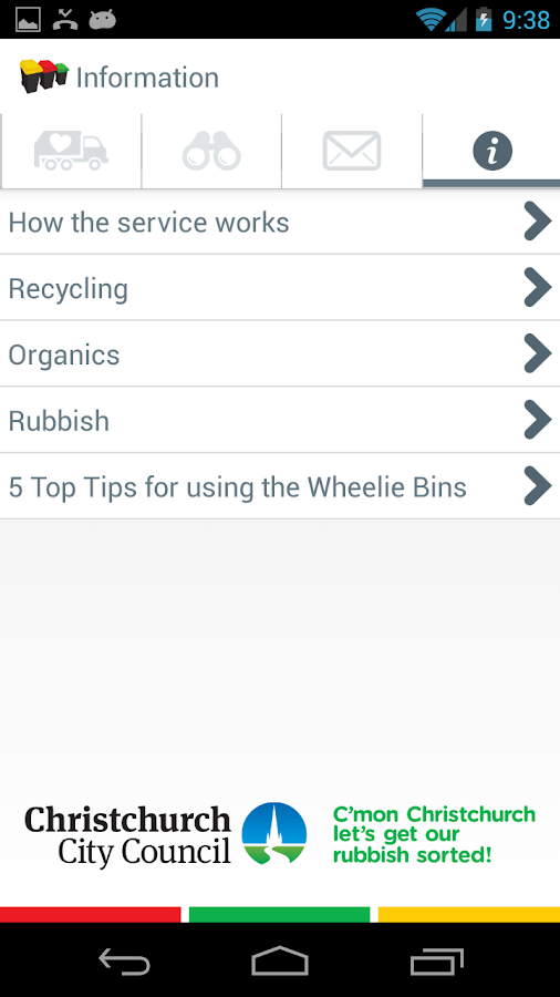 Christchurch Wheelie Bins- screenshot
