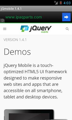 jQuery mobile 1.4.2 Demos docs