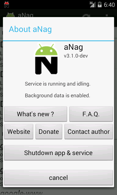 aNag - screenshot
