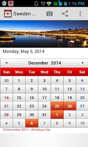 【免費生產應用App】Sweden Calendar-APP點子