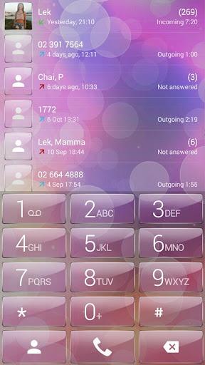 Dialer theme Pink Bubbles