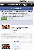 Screenshot of MMA Victor Fantasy MMA