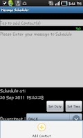 Screenshot of Message Scheduler