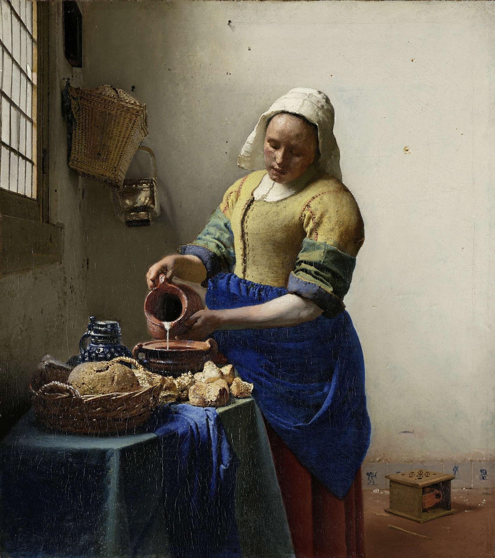La lechera de Vermeer, una de las grandes obras del Rijksmuseum