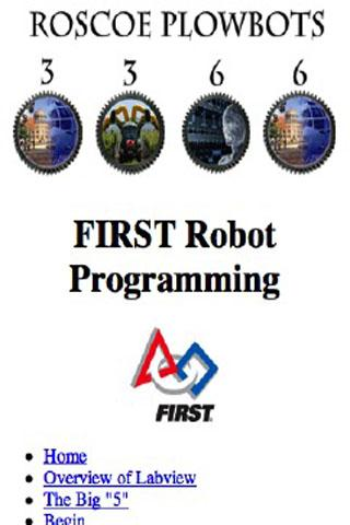 FIRST Robotics Programming