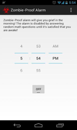 Zombie Proof Alarm Clock