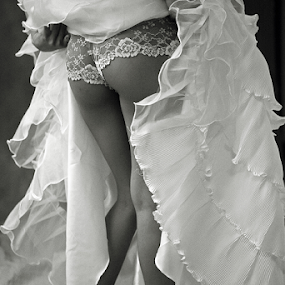 NAUGHTY BRIDE by Januar D - Black & White Portraits & People (  )