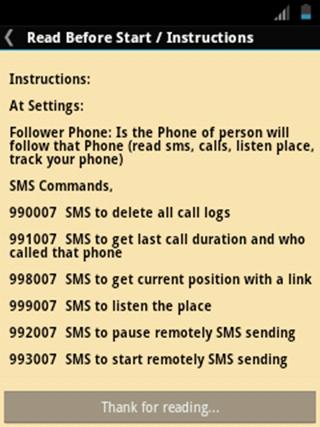 SpyPhone 2 by MAGMA - screenshot