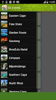 Screenshot of SA Events