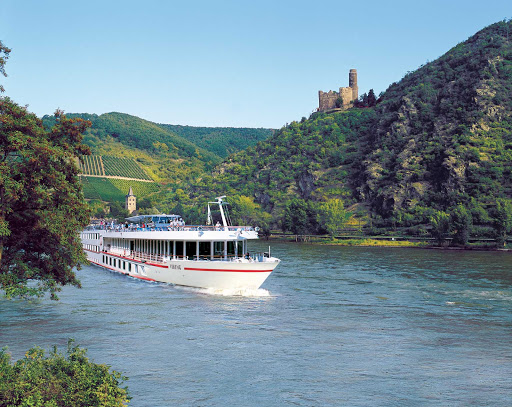Discover Maus Castle nestled into the hilltops as you travel along the Rhine River aboard Viking Pride. Built in the 14th century, it's a UNESCO World Heritage Site.