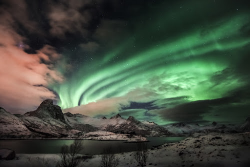 Northern Lights with magnetic storm by Alberto Ghizzi Panizza - Landscapes Cloud Formations ( green, aurora, storm, panizza, norway, lights, amazing, northern, sky, nature, borealis, stars, magnetic, norge, ghizzi )