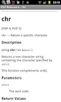 Screenshot of PHP Reference