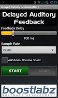 Screenshot of DAF Delayed Auditory Feedback