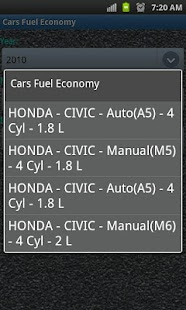 Car Fuel Economy- screenshot thumbnail