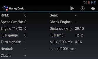 Screenshot of HarleyDroid