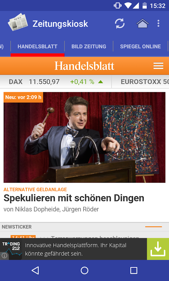 Zeitungskiosk - screenshot