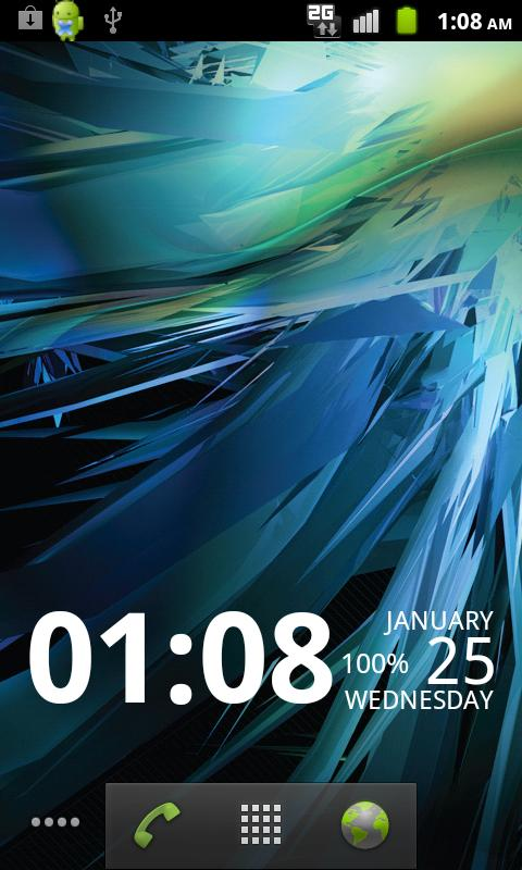 Digi Clock Widget- screenshot