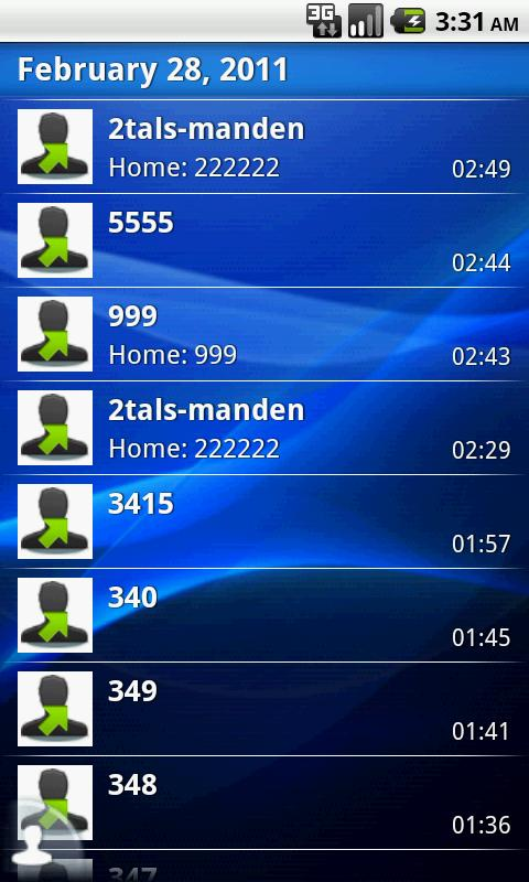 EasyDialer T9 - screenshot
