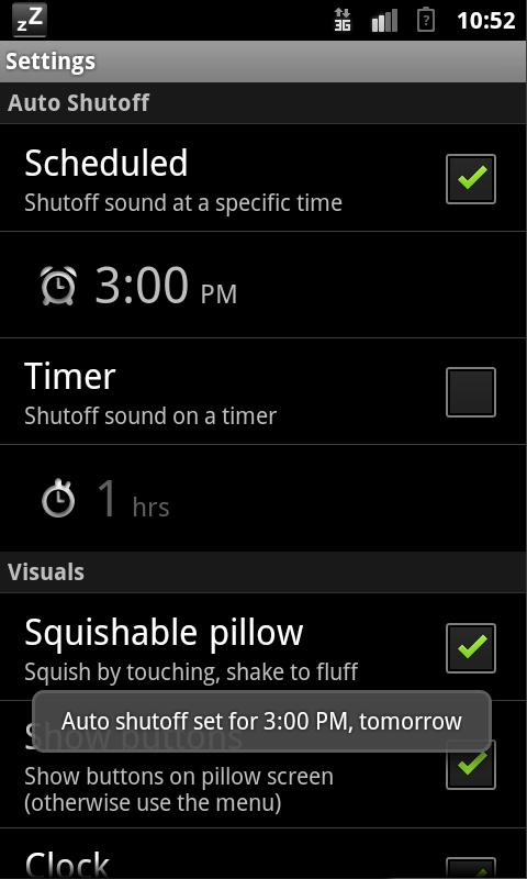 Pillow: White Noise (Pro)- screenshot