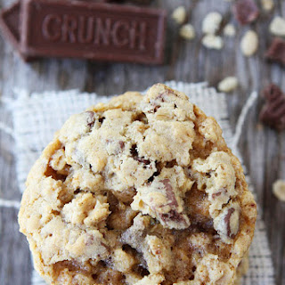 Crispy Chocolate Chip Crunch Oatmeal Cookies.