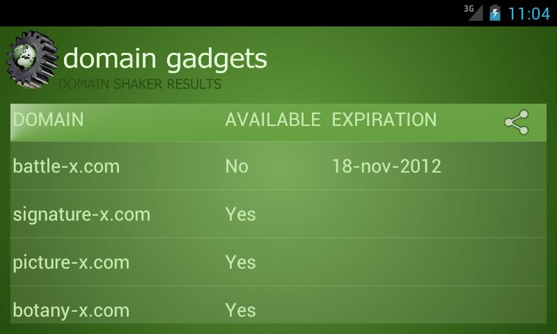 Domain Gadgets - screenshot