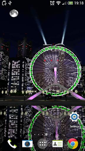 3D Ferris Wheel Live wallpaper