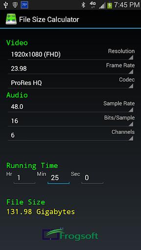 File Size Calculator