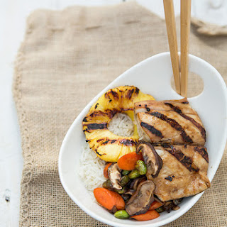 Teriyaki Mahi Mahi with Vegetables and Coconut Rice