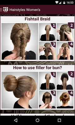 Womens Hairstyles tutorial - screenshot