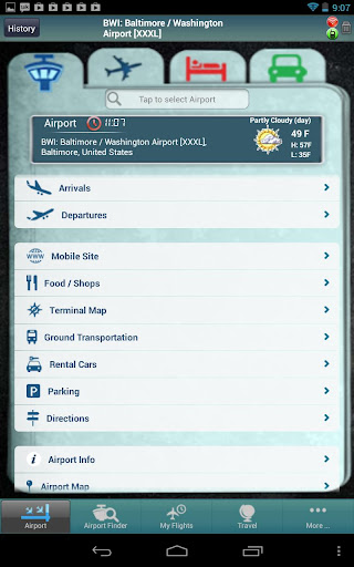 【免費旅遊App】Baltimore Airport+Flight Track-APP點子