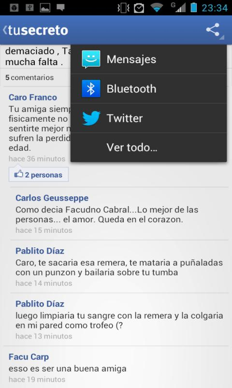 TuSecreto - screenshot