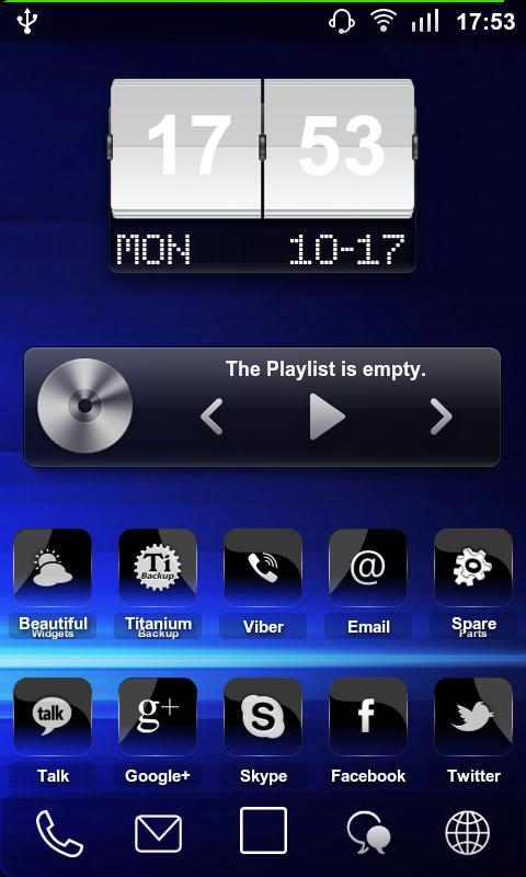 Crystal Black 2 Theme + Pack - screenshot