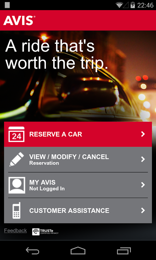 Avis Car Rental - screenshot