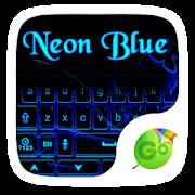 Neon Blue GO Keyboard Theme