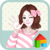 lovely girl hi dodol theme