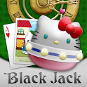 Hello Kitty Black Jack logo