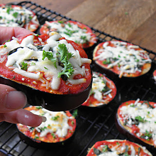 Low Carb Eggplant Pizza Bites.