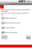 Screenshot of Oracle Exalogic Test
