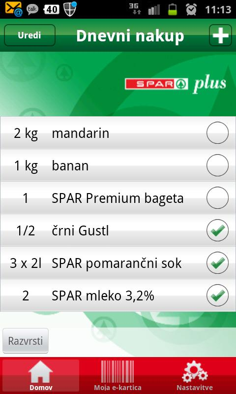 SPAR plus- screenshot