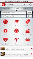 Screenshot of Verizon Visual411 Free Coupons
