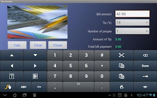 Screenshot of Tip Calculator for Tablets